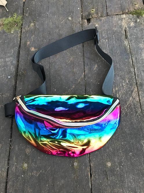 Metallic rainbow fanny pack