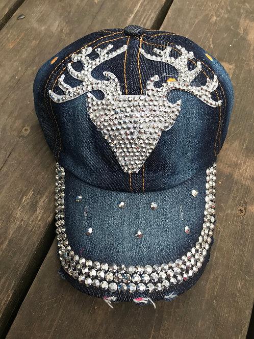 Rhinestone deer cap