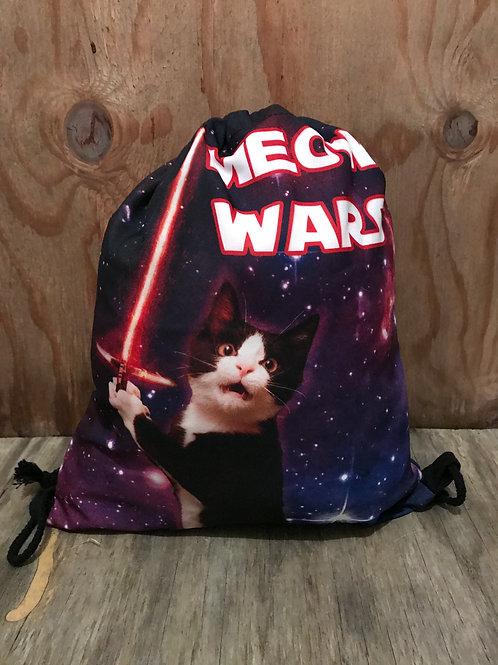 Meow wars light saber cat drawstring