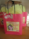 cute pink puppy theme party bag