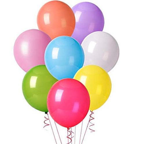 Latex Party Balloons Assortment - 10pkt