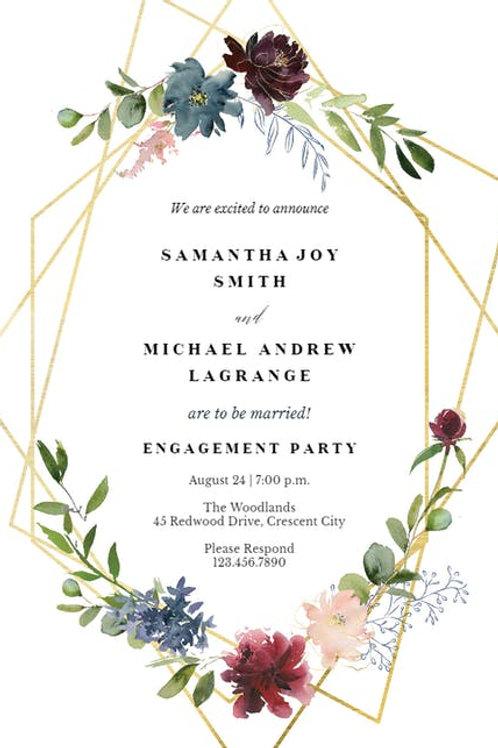 Elegant Floral watercolour invite  - 5 style design.