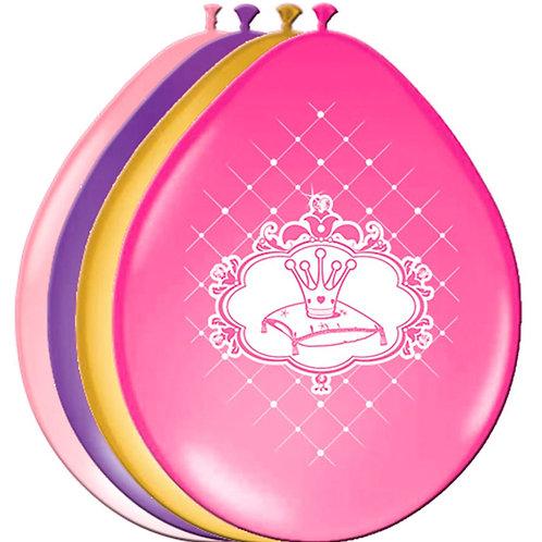 princess latex balloons - pkt 6