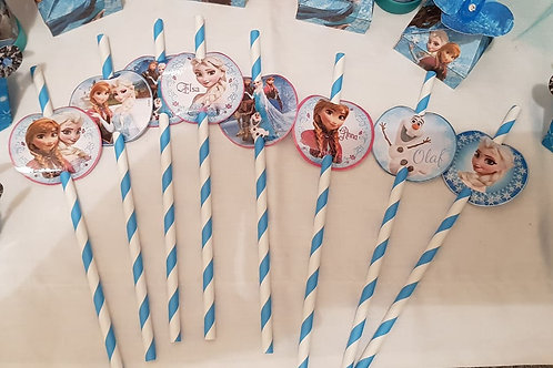 Disney Frozen themed straws