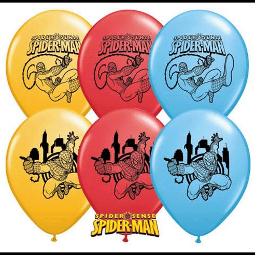 Spiderman balloons - pkt 6