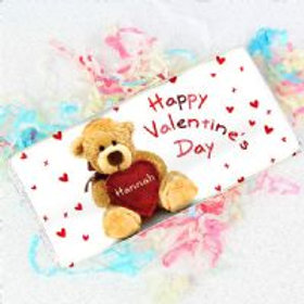 Personalised Valentine's chocolate bar - Tatty Teddy