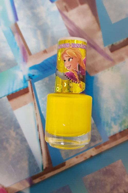 Disney Frozen AnnaDelux nail polish - colour shimmer yellow