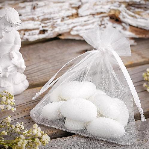 Organza bags 7 x 9 cm –  white
