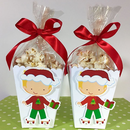 Christmas eve or stocking filler  - treat / popcorn box