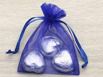 Organza bags 7 x 9 cm –  blue