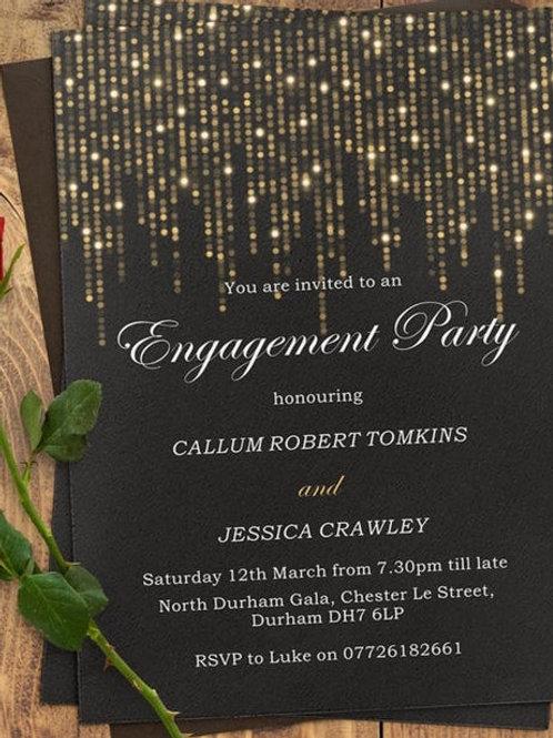 Glitter & Glamorous engagement invites