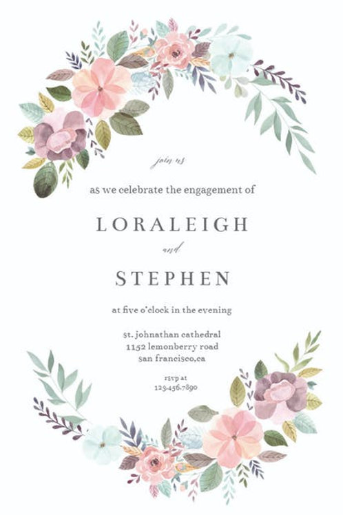 Enchanted Garden Engagement invite collection