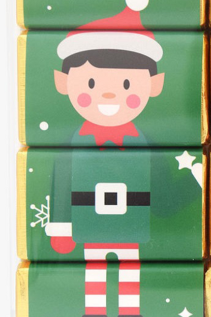 little Elf Christmas Chocolate Slims - set of 4 chocolates