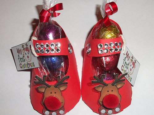 my 1st xmas red favour shoes - pair