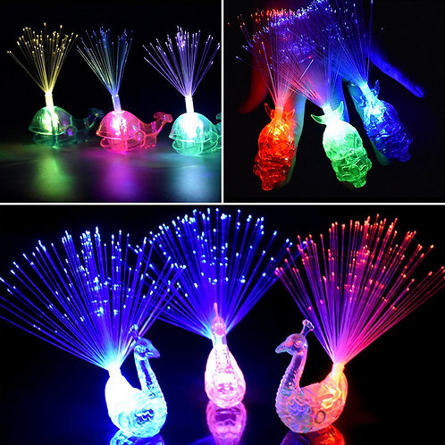 Finger Lights Colourful LED Flashing Toys - 6 pack