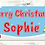 Thumbnail: 2 x Personalised Santa & Snowman Christmas banner: size 3ft x 1ft