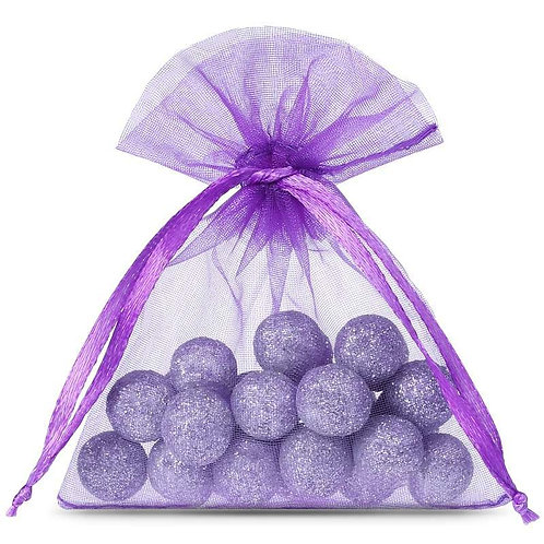 Organza bags 7 x 9 cm – purple