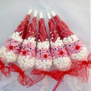 Santa sweet cones - pre-packed
