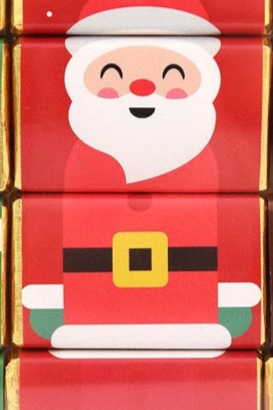 Father Christmas Chocolate Slims - set of 4 chocolates