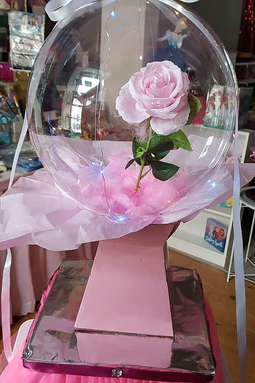 LED Balloon Flower Bouquet Set  - PINK + mothers day tag