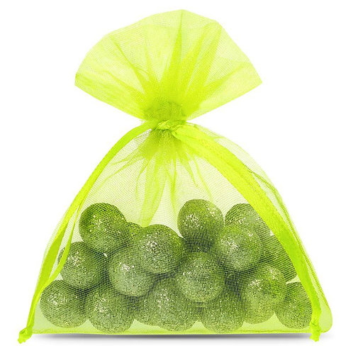 Organza bags 7 x 9 cm –  neon green