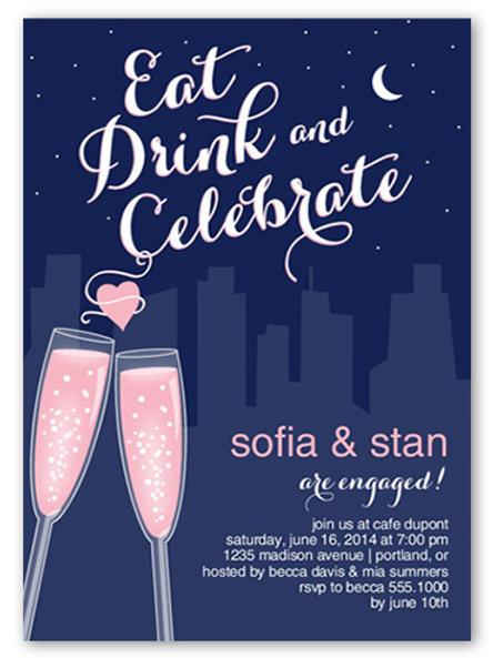 Pink Champagne +  free envelopes