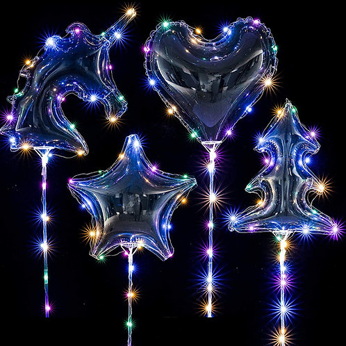 Helium filled - Shaped LED multi coloured fairy light balloons