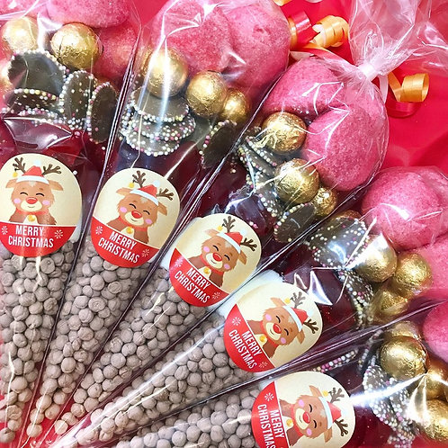 Merry Christmas Cute Rudolph sweet cone