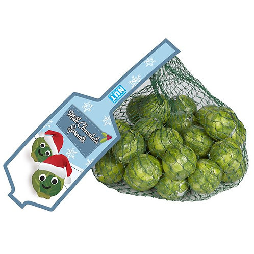 Net of Solid Milk Chocolate Brussels Sprouts - 75g