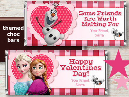 Personalised Valentine's chocolate bar - Frozen