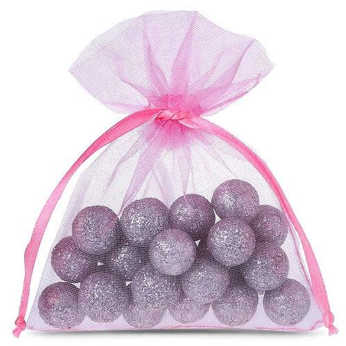 Organza bags 7 x 9 cm – pink