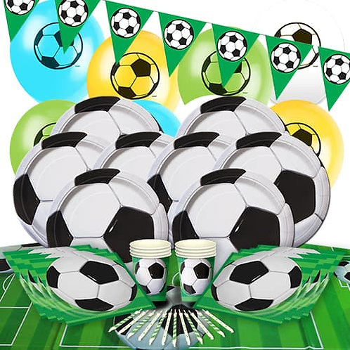 Football Deluxe Party Pack ~ 0ver 100 pieces + football favours