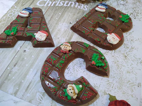 Christmas chocolate letters.