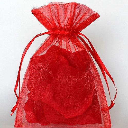 Organza bags 7 x 9 cm - red