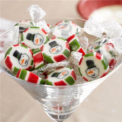 Snowman rock sweets