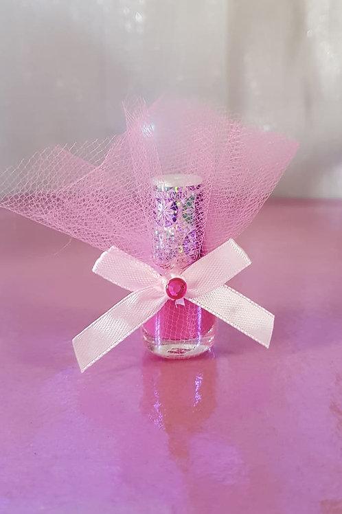 Disney Frozen Snowflake Sparkle nail polish - colour bright pink