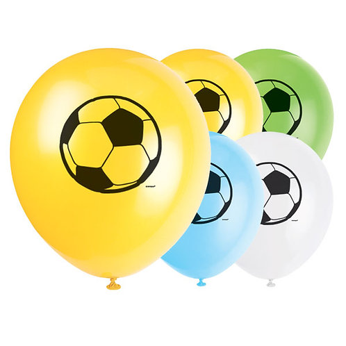 Football Biodegradable Latex Balloons - 12 Inches - Pack of 8