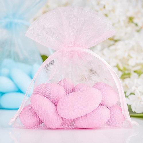 Organza bags 7 x 9 cm – baby pink