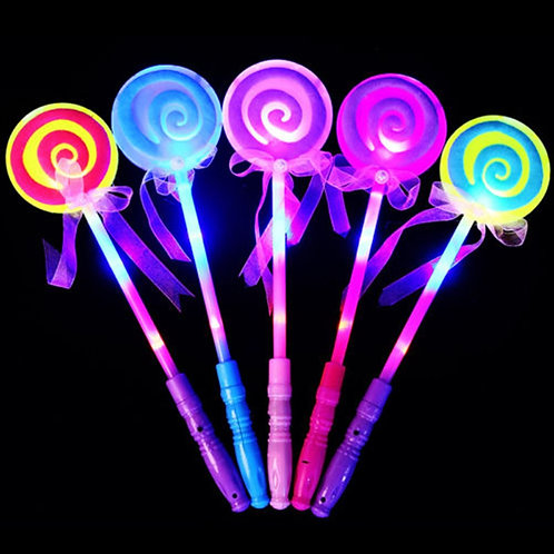 Light up Flashing Fairy Magic Wand Lollipop Stick