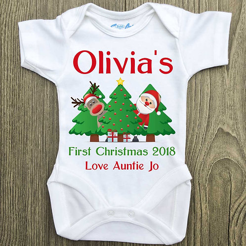 My 1st Christmas personalised message vest - boy/girl