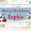Thumbnail: 2 x Personalised Santa & Snowman Christmas banner: size 6ft x 2ft