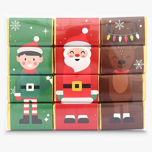 Christmas Characters Chocolate Slims - set 3 designs