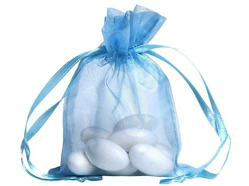 Organza bags 7 x 9 cm - baby blue