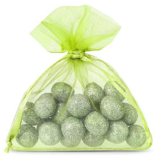 Organza bags 7 x 9 cm – light green