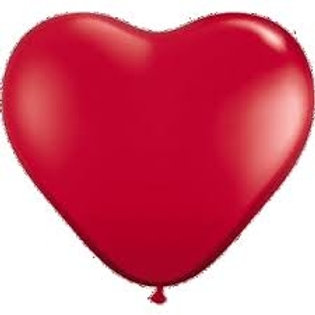 "12"" Heart Latex balloons   - pack 10 - 5red/5white"