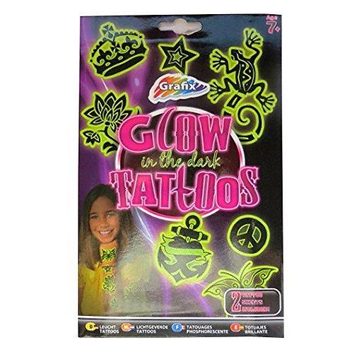 Girls Glow in the Dark Temporary Tattoos - 20 Individual Designs