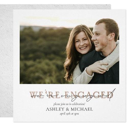 We Engaged Photo Invite + free envelopes