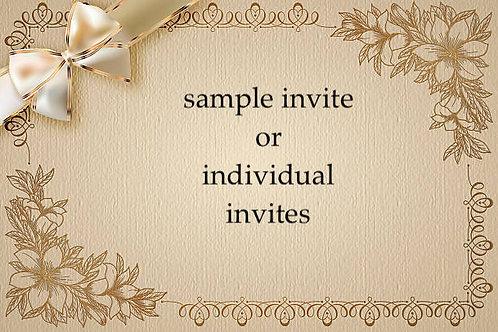 Engagement invites  - SAMPLE invites and/or Singular order invites
