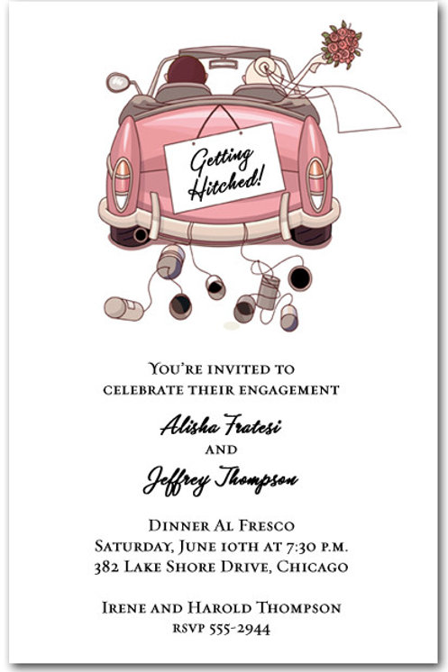 Cute 'Getting Hooked' Engagement invite