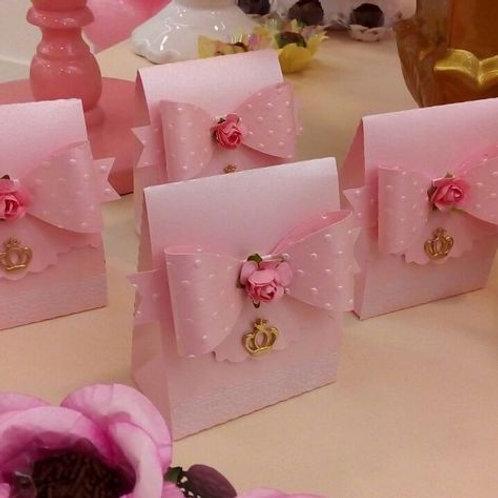 Elegant Princess bow & rose party favour